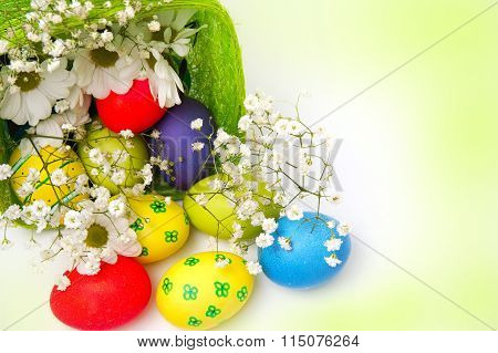 Fancy Easter Eggs And Basket