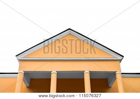 The Old Office Building, Isolated On White Background.
