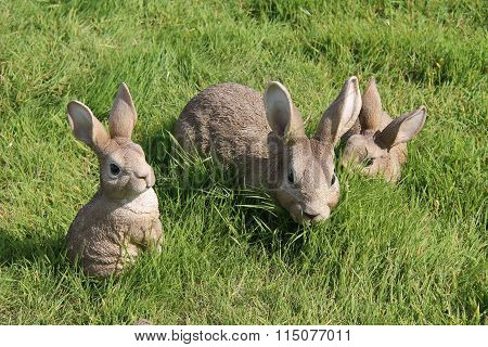 Rabbit Garden Ornaments.