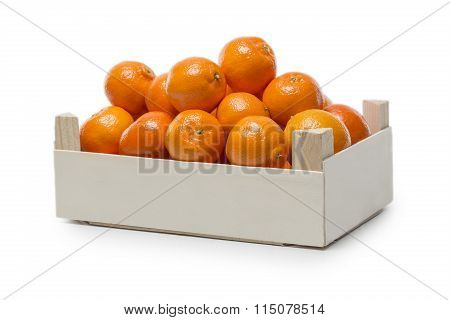 Clementines In A Small Wooden Box