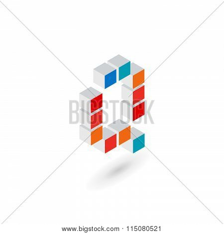 3D Cube Letter Q Logo Icon Design Template Elements