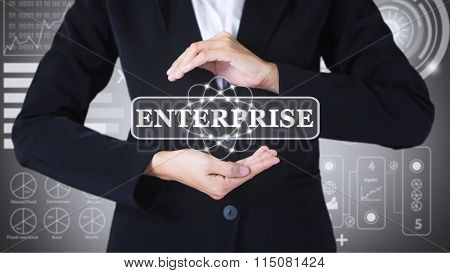 Business women holding posts in ENTERPRISE.