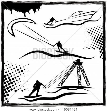 Kite And Cable Wakepark Illustration