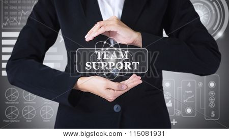 Business women holding posts in SUPPORT TEAM.