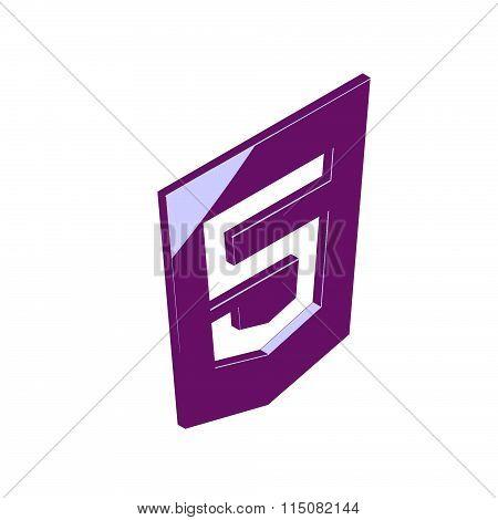 HTML 5 Isometric icon