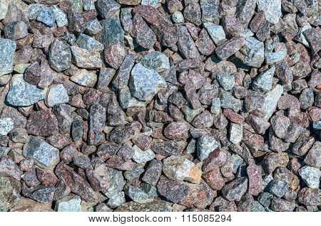 Crushed Gravel Texture. Material For The Construction Of Roads Many Other