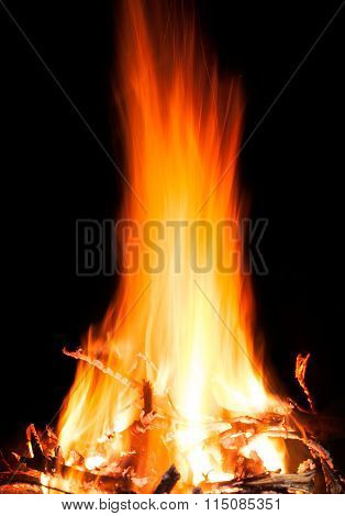 Fire Burning In The Night