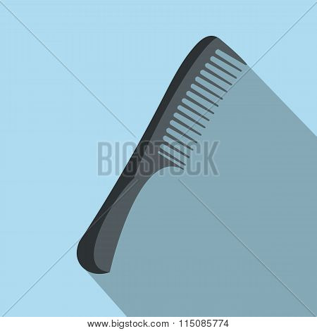 Comb flat icon with shadow