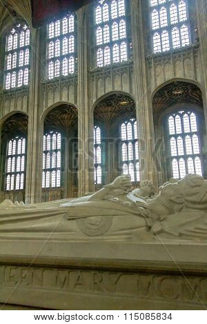 Gravestone Of Queen Mary In St. George Chapel. Windsor Castle. Uk