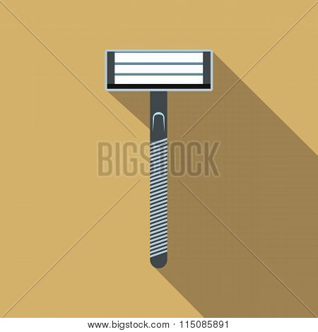 Razor flat icon with shadow
