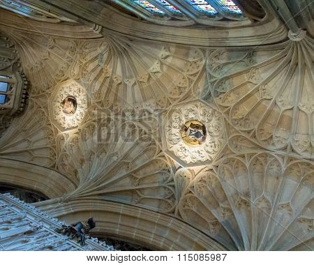 Beautiful Ceiling Of  St. George Chapel. Windsor Castle. Uk