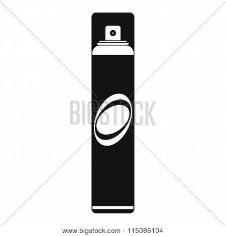 Hairspray black simple icon