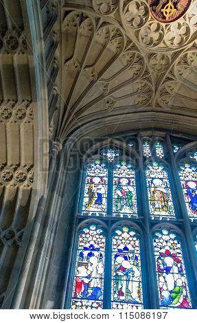 Inside St. George Chapel. Windsor Castle. Uk