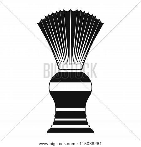 Shaving brush black simple icon