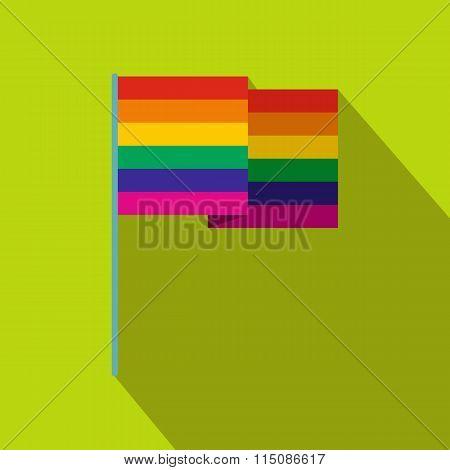 Rainbow flag flat icon