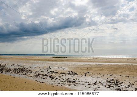 Beach On The Cote D'opale Near Calais, France.