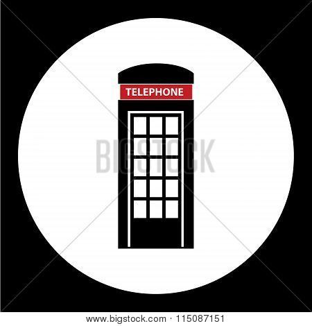 Phone Booth Simple Black Isolated Icon Eps10