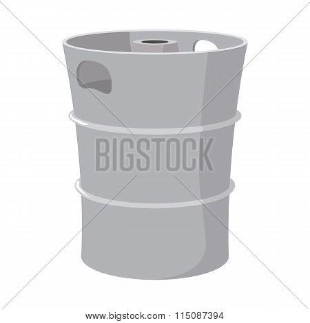 Metal beer keg cartoon icon