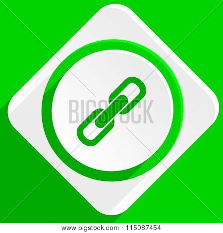 link green flat icon