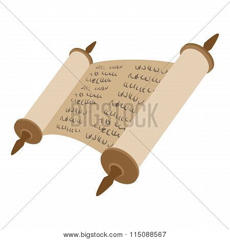 Torah scroll cartoon icon
