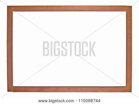An Empty Picture Frame On A White Background
