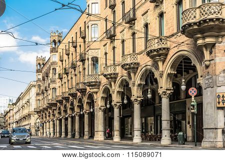 Houses in Turin, Italy