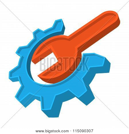 Repair cartoon icon