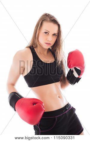 Portrait Of Sexy Sporty Lady