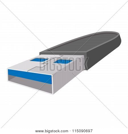 USB flash drive cartoon icon