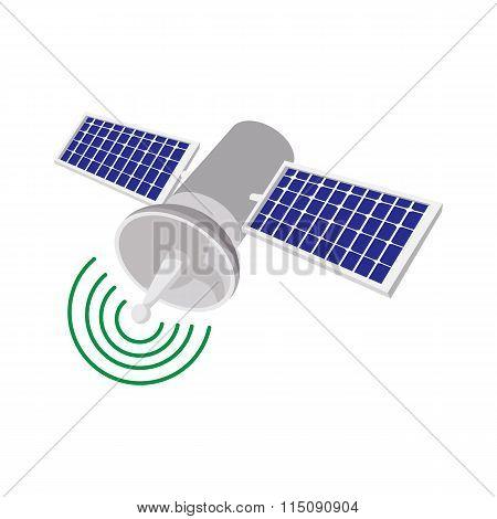 Satellite communications cartoon icon