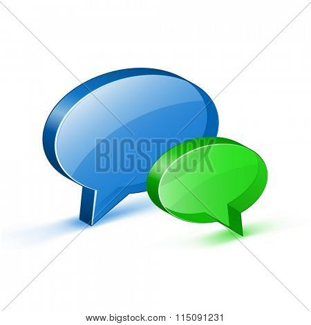 Online support icon for website. Glossy bubble Icon. Vector illustrations