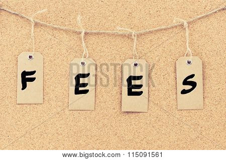 Vintage Grunge Tags With Word Fees