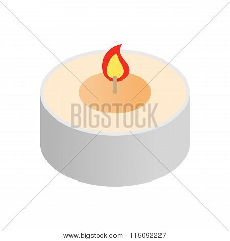 Round spa candle isometric icon