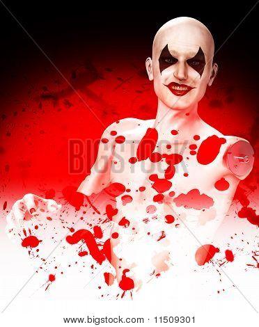 Evil Bloody Clown Falling To Bits