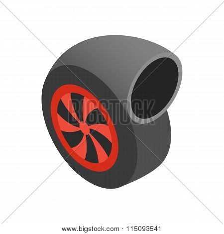 Turbocharger isometric 3d icon