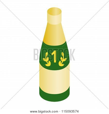 Champagne for the winner isometric 3d icon