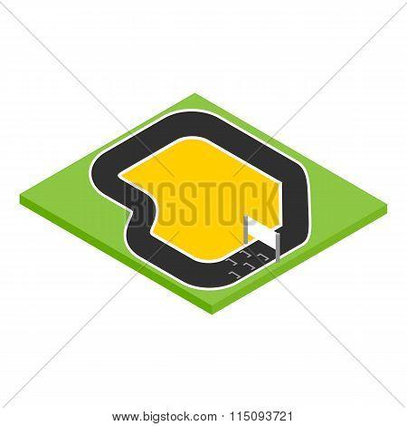 Speedway isometric 3d icon
