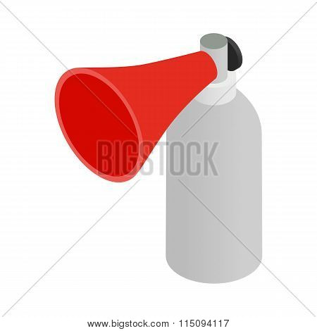 Portable plastic red megaphone isometric 3d icon