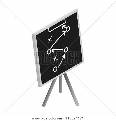 Tactic strategy sketched on a blackboard icon