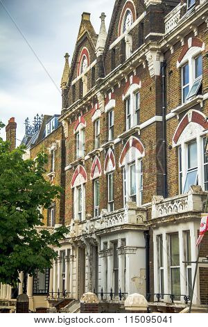 Old Apartment Red Brick Houses In The Area  Kensington Olympia, London