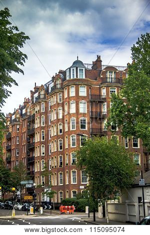 Old Large Apartment Red Brick Houses In The Area  Kensington Olympia, London