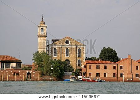 Venice, Italy - September 04, 2012: The Santa Maria Degli Angeli Church, Murano, Italy