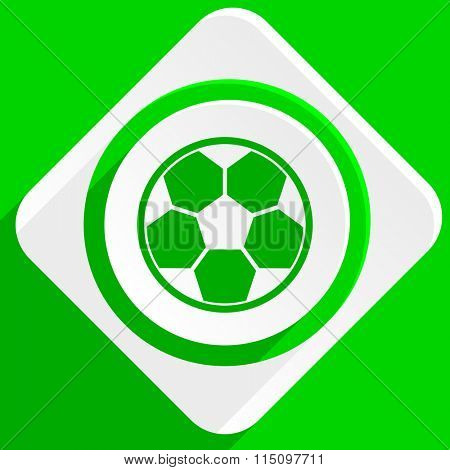 soccer green flat icon