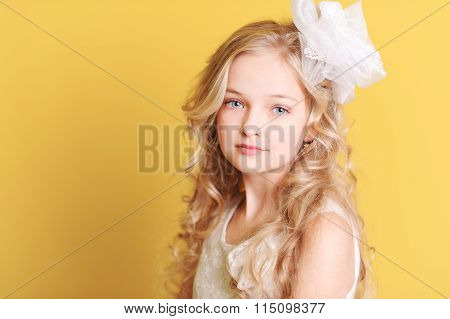 Beautiful blonde kid girl