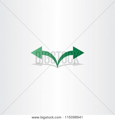 Green Arrow Left Right Icon Logo