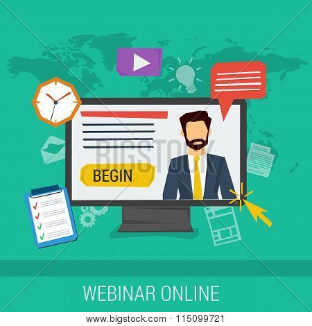 online webinar, e-learning, professional lectures