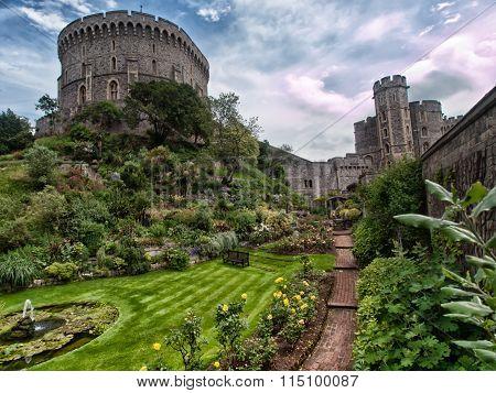 Garden in Windsor castle.