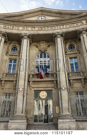 The Town Hall Of 5Th Arrondissement Of Paris.