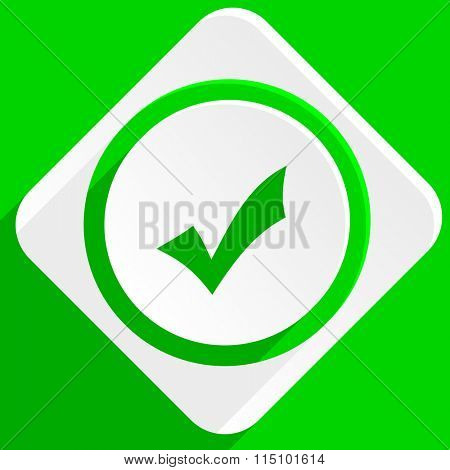 accept green flat icon