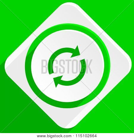reload green flat icon